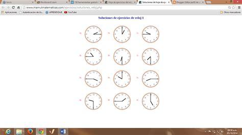 generador de ejercicios para aprender la hora y leer el reloj generador de ejercicios para aprender la hora y new