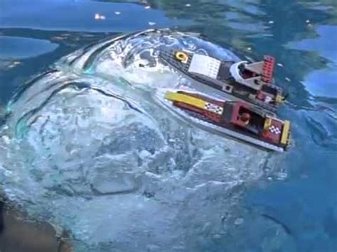 lego boat in motion slow motion huge air bubble sinks two lego boats m4v