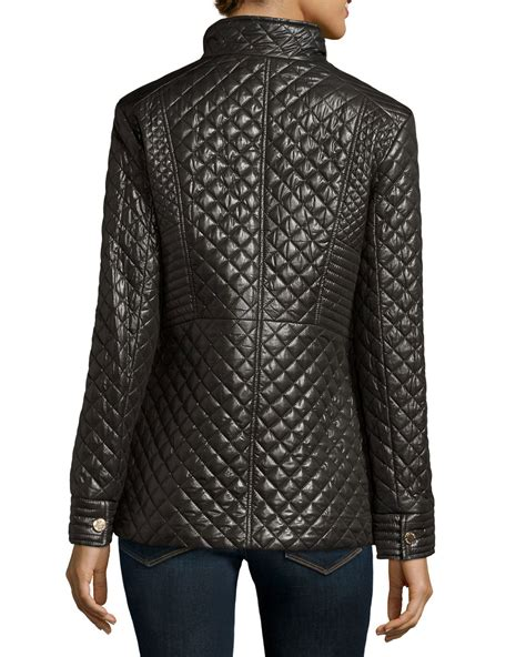 Via Spiga Quilted Puffer Coat by Via Spiga Quilted Zip Puffer Coat In Black Lyst