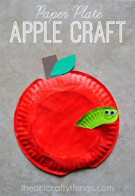 Paper Plate Crafts For Preschoolers - paper plate apple craft apples school and craft