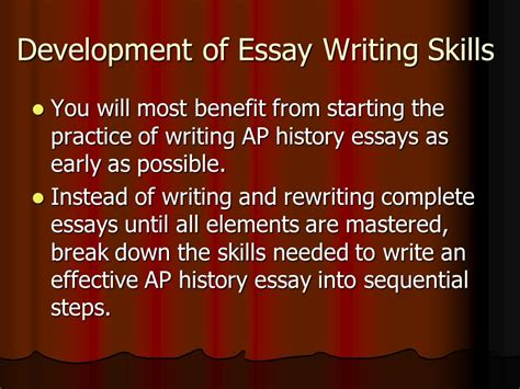 Essay Writing Skills by How To Write An Apush Thesis Statement How To Tackle The