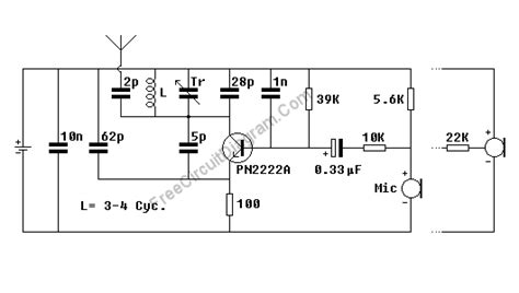 fm transmitter with one transistor single transistor wireless microphone fm transmitter circuit diagram world