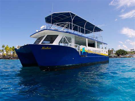 catamaran cruise kona blue sea cruises manta snorkel hawaii discount