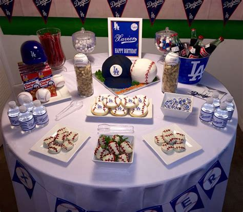 Los Angeles Decorations by Los Angeles Dodgers Birthday Ideas Photo 7 Of 20