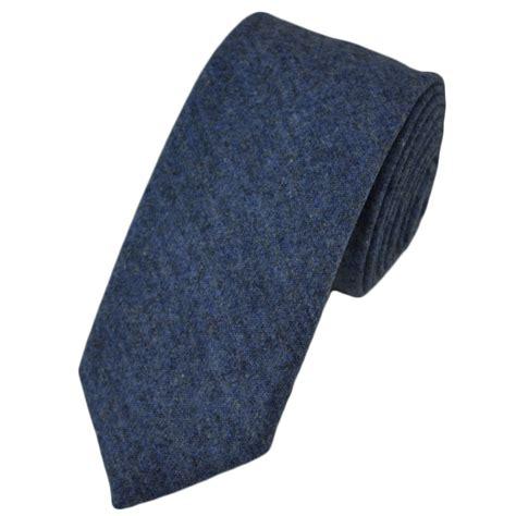 plain blue wool blend slim tie by profuomo from ties planet uk