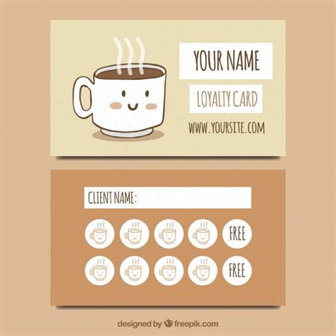 Coffee Shop Vectors Photos And Psd Files Free Download Coffee Card Template