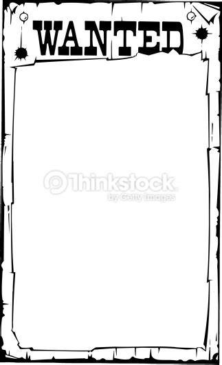 black and white wanted poster template wanted poster border clip 31
