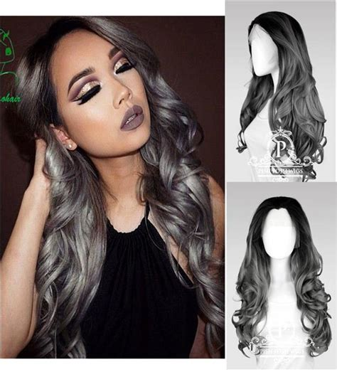 Rambut Palsu Ombre front lace wig ombre grey ready st end 10 2 2017 2 18 pm