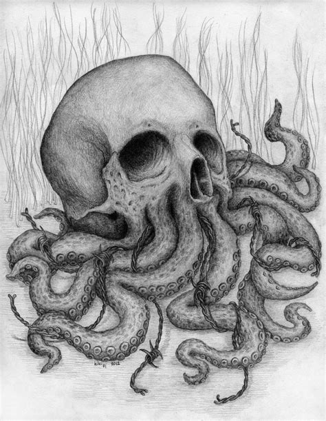 skull octopus tattoo skull octopus drawing ink piercings