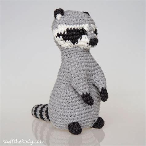 amigurumi raccoon pattern free raccoon amigurumi crochet pattern stuff the body
