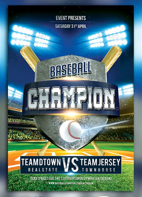 baseball flyer template baseball flyer 20 in vector eps psd