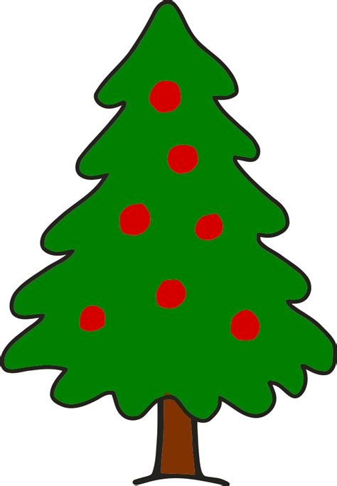 OnlineLabels Clip Art - Simple Christmas Tree Free Clipart Of Christmas Tree