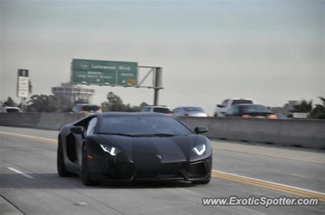 Lamborghini In La Lamborghini Aventador Spotted In Los Angeles California