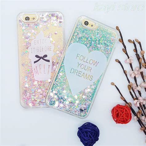 Fashion Water Gliter For Apple Iphone 6 Plus fashion glitter flowing water liquid for iphone 6 6s 6s plus 5 5 quot soft