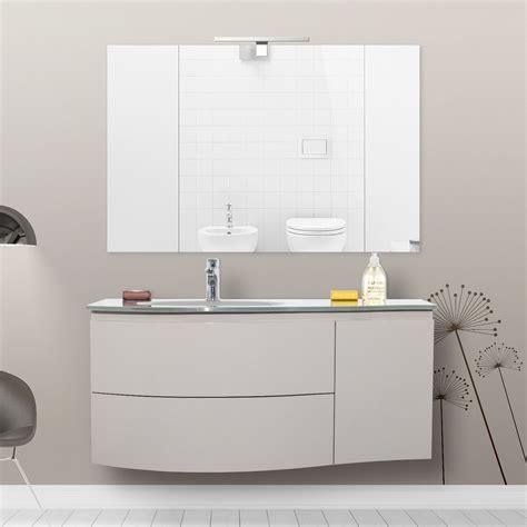 mobili arredo mobile arredo da bagno 110 cm lavabo in cristallo
