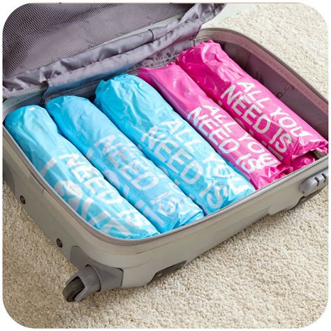 vacuum travel bag 2pcs space saving travel smart compressed storage roll up