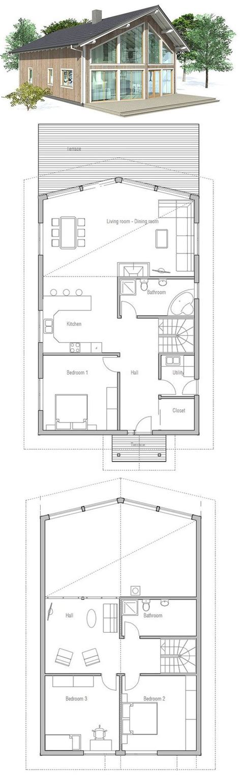 vaulted ceiling house plans small house plan to deep lot high vaulted ceiling in the