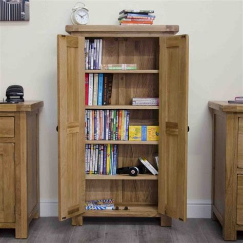 Oak Cd Storage Cabinet Original Rustic Solid Oak Furniture Cd Dvd Storage Cabinet Cupboard Unit Ebay