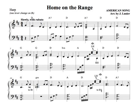 home on the range for harp janet lanier