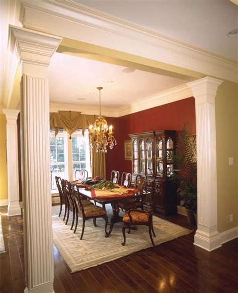 dining rooms with columns room ornament