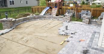 Installing Pavers Patio by Concrete Pavers And Paver Infromation The Concrete Network
