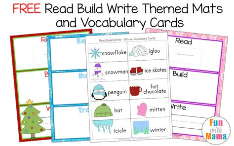 make vocabulary cards free printable read build write mats vocabulary cards