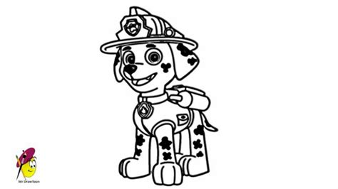 paw patrol marshall coloring page free coloring pages of paw patrol marshall