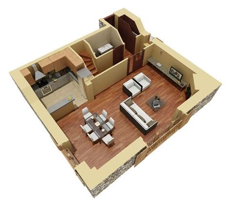 Residential Duplex 3d Floor Plan 3d House Plans Home Home Design 3d Two Floors