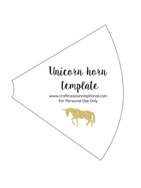 printable unicorn ear template unicorn horn template cumplea 241 os unicornio pinterest