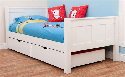 white kids bed buy stompa classic kids white 3ft single bed bedstar