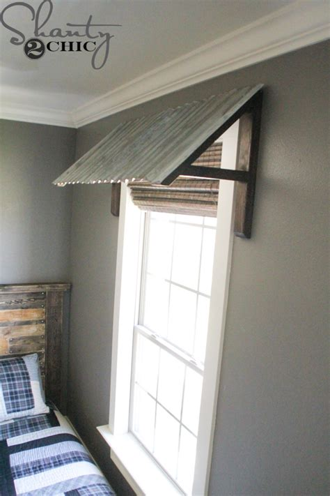 how to build an awning over a window diy corrugated metal awning shanty 2 chic