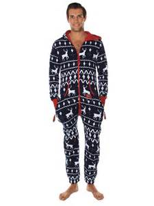 Ugly christmas sweater party fair isle blue adult jumpsuit