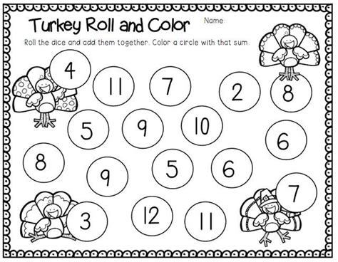 grade thanksgiving math literacy stations and