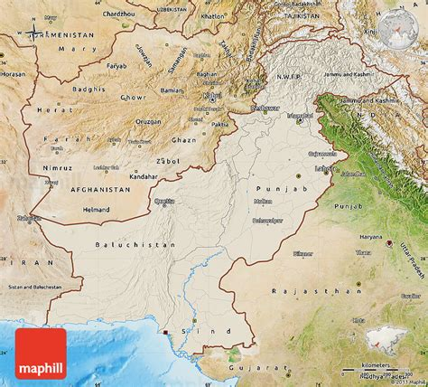 pakistan map satellite shaded relief map of pakistan satellite outside shaded