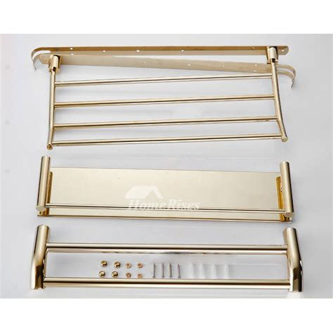 Bathroom Shelves Stainless Steel by 3 Layer Stainless Steel Wall Bathroom Shelves Silver Gold