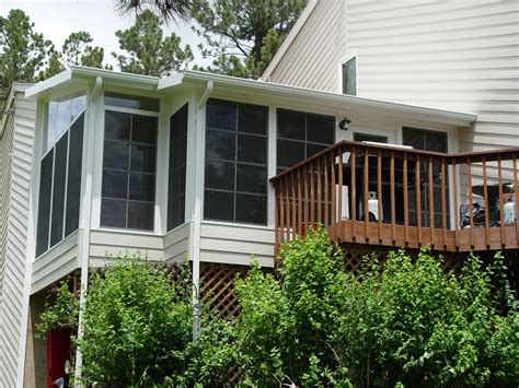 Decoration: Cool Sunroom Designs With Deck Railings And