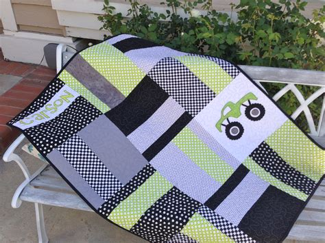Easy Big Block Quilt Patterns by Modern Truck Quilt Tutorial