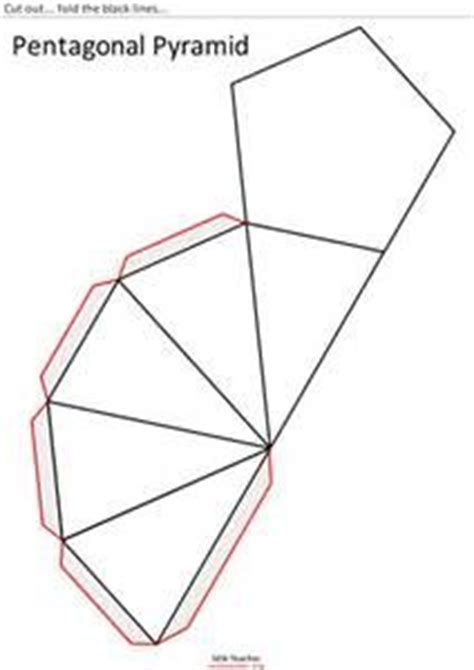 How To Make A Pentagonal Pyramid Out Of Paper - cone 3d shape nets printable g7 3d shapes