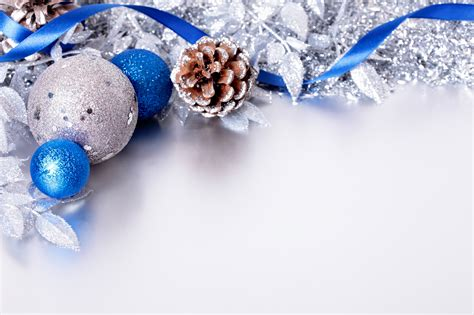 silver and blue christmas backgrounds image hq free