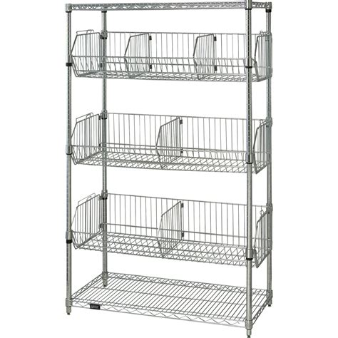 quantum storage stationary basket unit 36in w x 18in d x