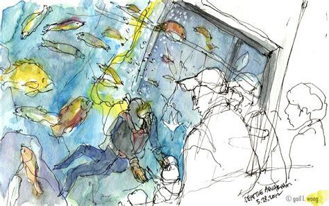 aquarium design drawing urban sketchers seattle may 2012