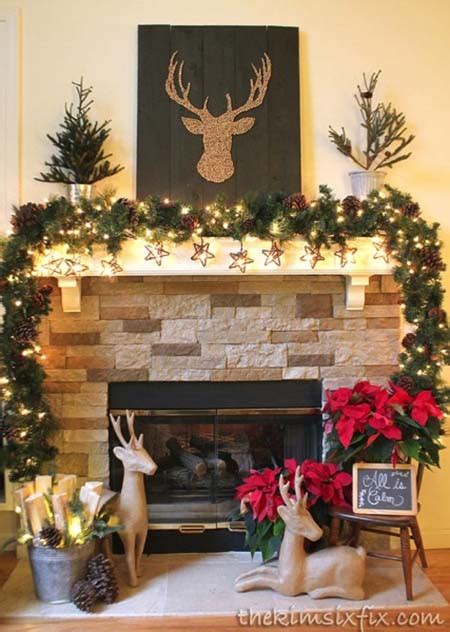 country christmas mantel decorating ideas 40 fabulous rustic country decorating ideas