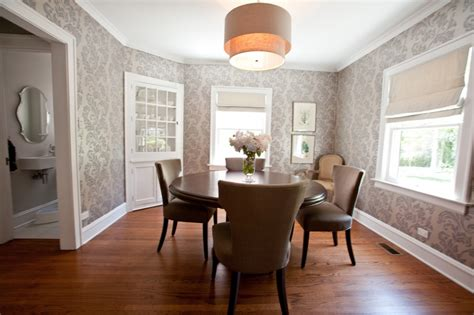 10 dining room designs with damask wallpaper patterns