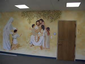 use vinyl wall murals for inspiration at your church handmade wall mural at ascension catholic church portland