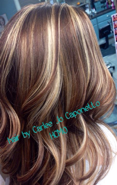 blonde highlights on brown hair highlight lowlight by me lushloxbycarleejo pinterest
