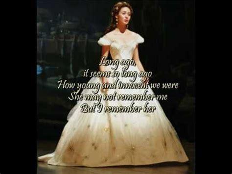 emmy rossum youtube phantom of the opera think of me from phantom of the opera with lyrics on