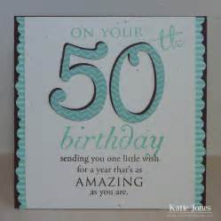 crafting with 50th birthday card