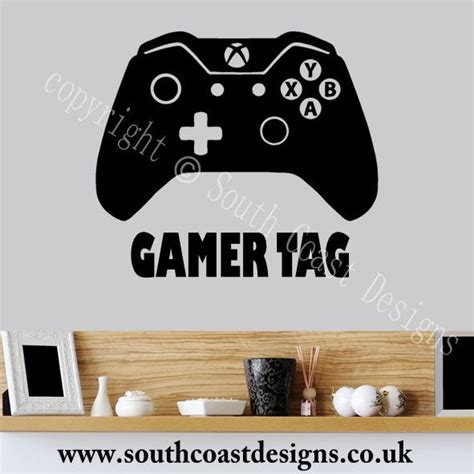 Wall Border Sticker Motif Car2 xbox one controller wall sticker with your gamer tag personalised design 2