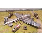 Diorama B 17 Crash Landing Included Detailed Build