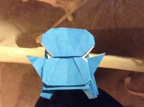 How To Make An Origami Squirtle - sfkolas origami squirtle origami yoda